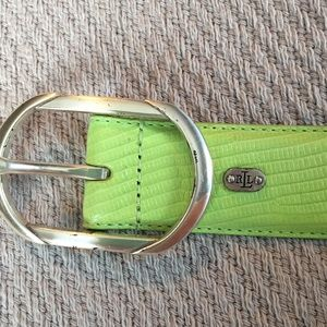 Ralph Lauren lime green belt